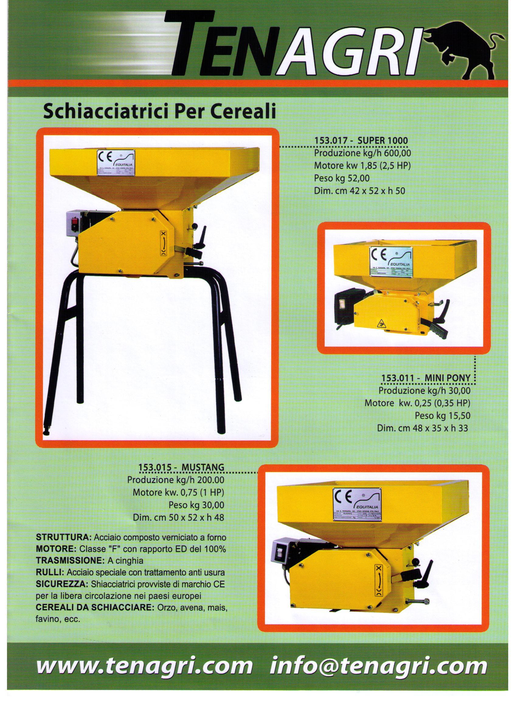 Schiacciatrici cereali alcamo trapani for Vetroresina ondulata prezzo